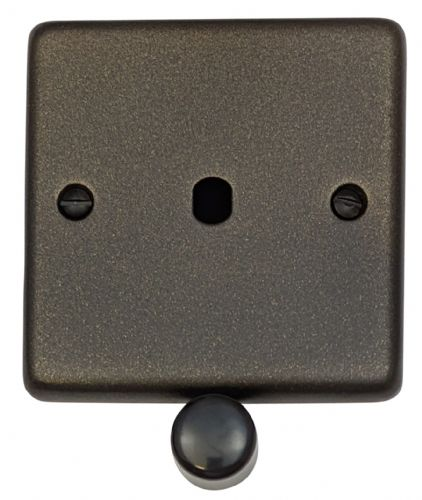 G&H CG11-PK Standard Plate Graphite 1 Gang Dimmer Plate Only inc Dimmer Knobs